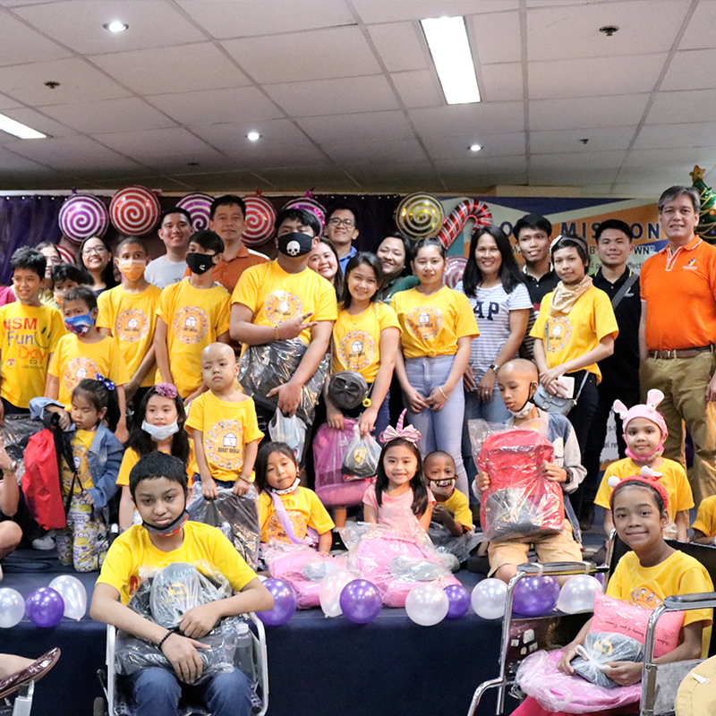 "Aims contributes to Philipine Bible Society Christmas Party organized by ""The Hope"" with the support of Crossworld"